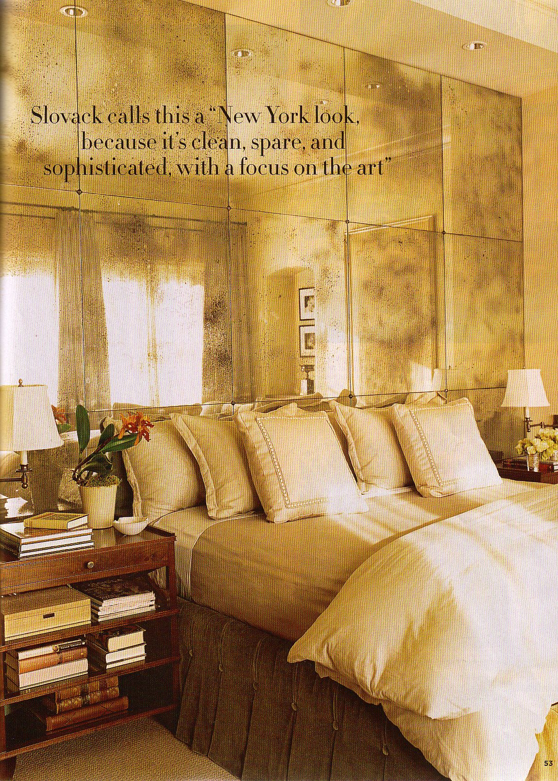 antique mirrored wall i like this look too just for a