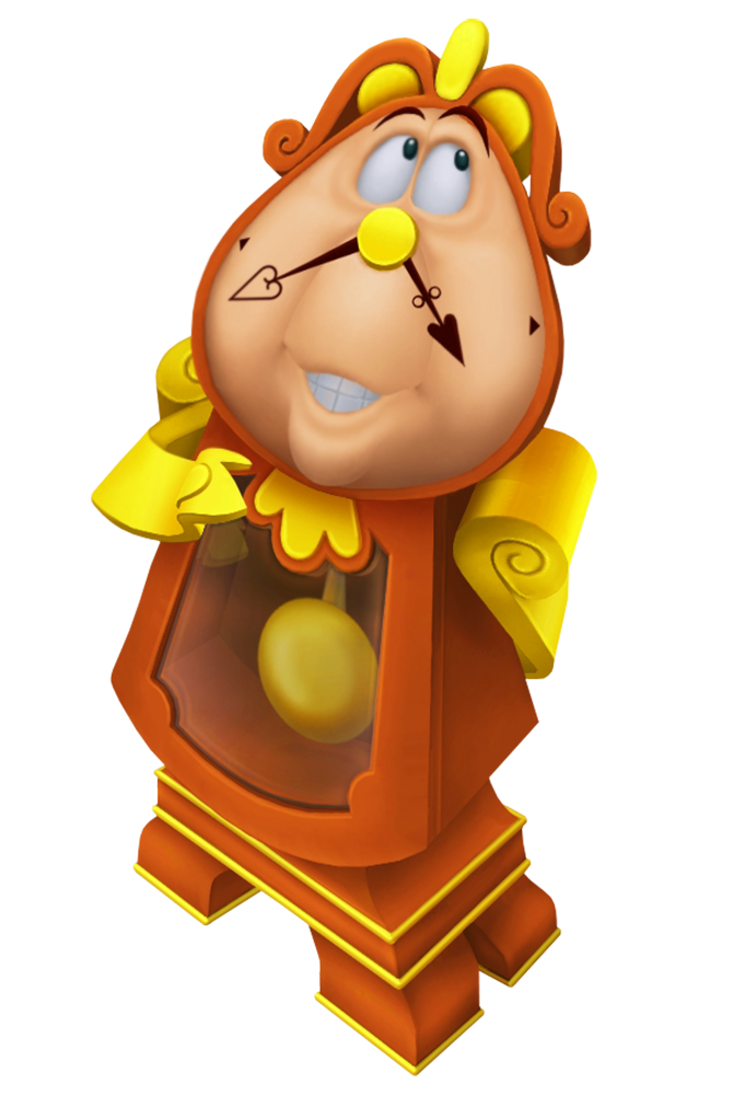 Cogsworth Beauty And The Beast Cartoon Transparent Image