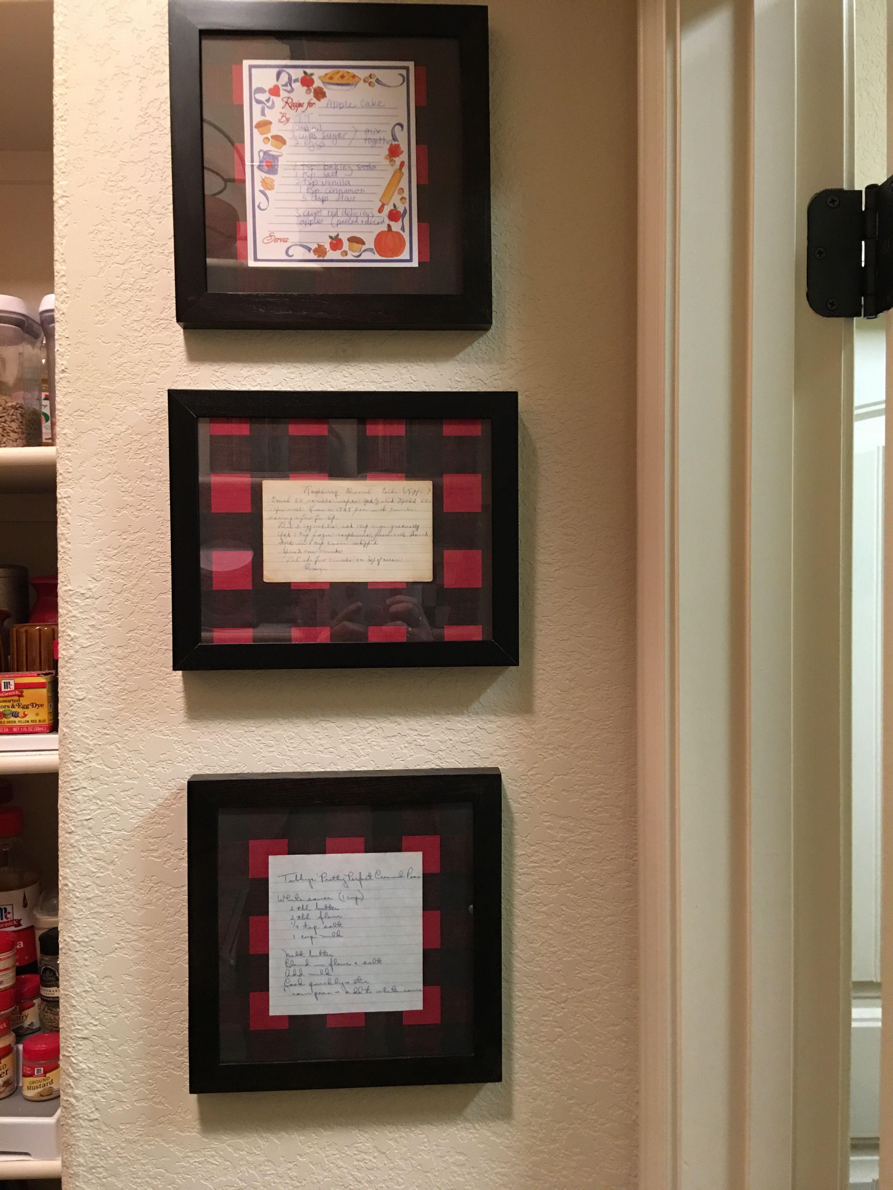 Framed Recipe Cards   Little House in the Village   Pinterest ...