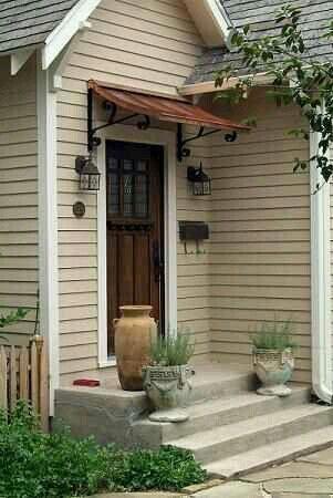 Beach Cottage Awning Front Door Awning Metal Awning House Exterior