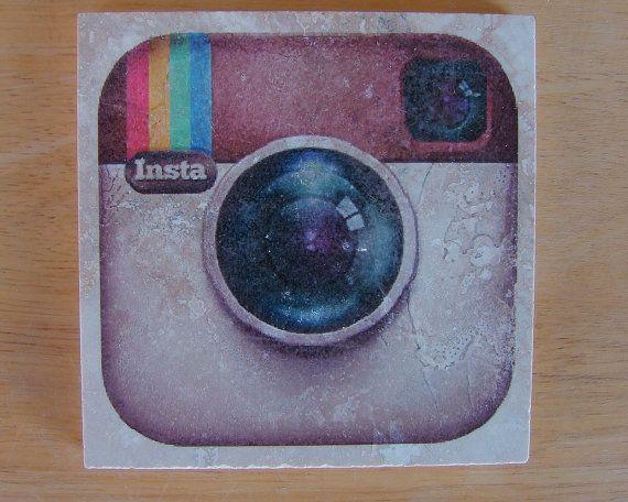 Social Media Drink Coasters Set of 4 by WindyDucks on Etsy, $16.00