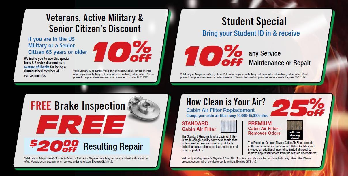 Toyota Palo Alto May Specials Senior citizen discounts
