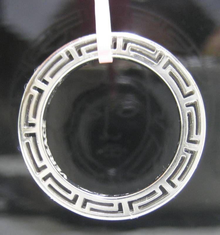 NIB VERSACE 18k White Gold sz 6 Ring Pendant Women Lady Gorgeous Gift NEW US $799.99