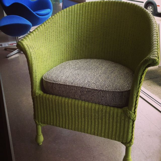 Vintage 50s Lloyd Loom chair all done up. A new coat of paint, a new ...