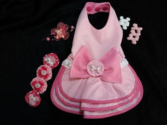 Vestido em tecido 100% algodão com 3 saias d4789a28893