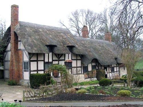 Vintage Cottage of Anne Hathaway Shakespeare us wife from castlesandcottages Englischer GartenZuk nftige