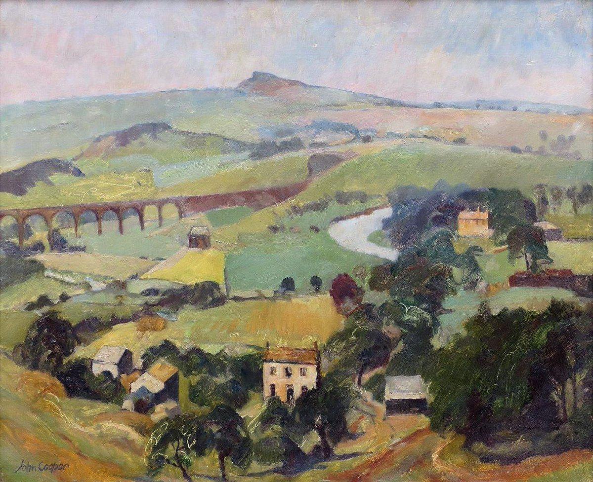"""The Wharfe at Arthington Viaduct"" by John Cooper"