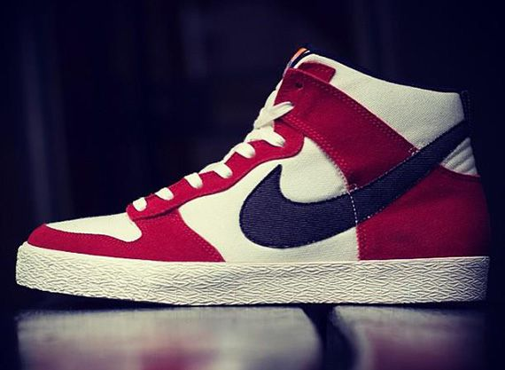 low cost 05ce2 1ca52 Nike Dunk High AC - University Red - Black - Sail