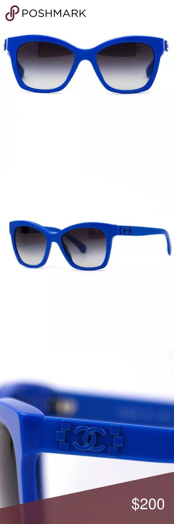 Chanel Sunglasses Blue CC Logo Pantos 5313 Chanel CC logo cat eye ...