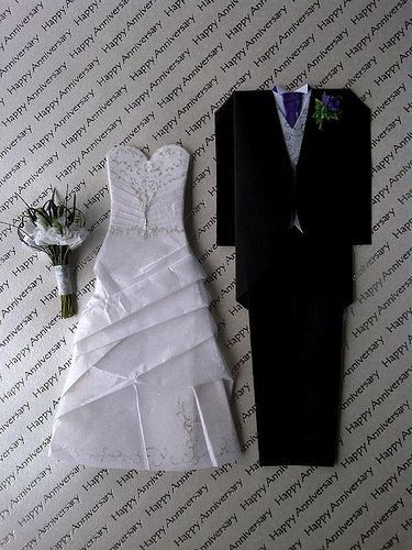 Origami Bride Groom