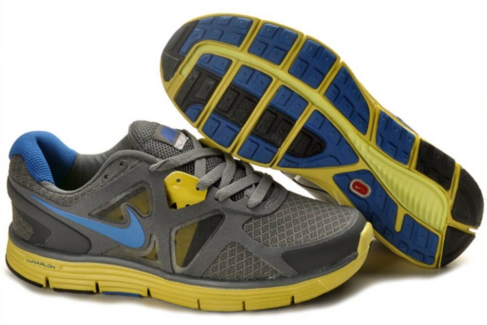 sports shoes f06bf 14785 Boys Nike Lunarglide 3 Gray Yellow Blue Shoes For Sale  perfact