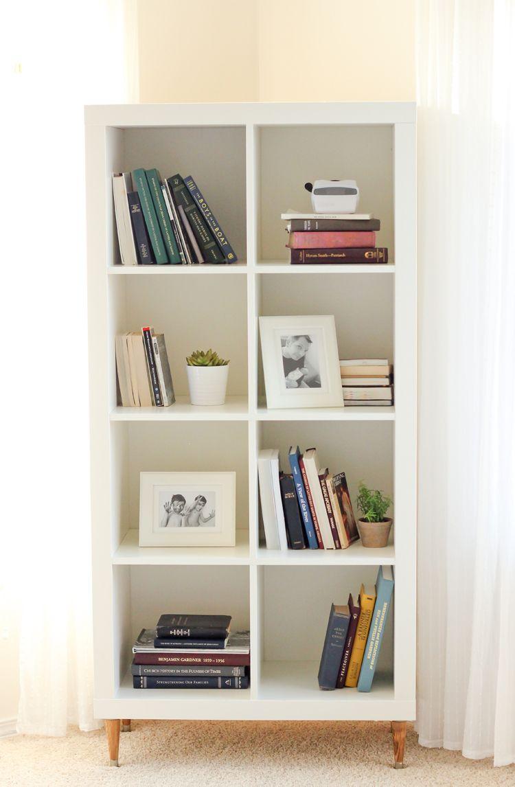 8 stylish ways to design a home library or reading nook for Estanteria kallax ideas