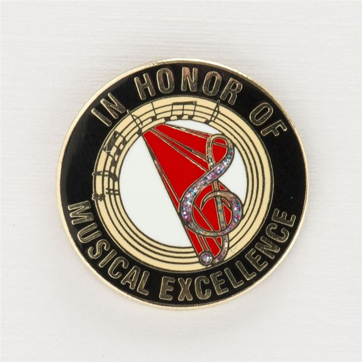 In Honor of Musical Excellence Round Pin