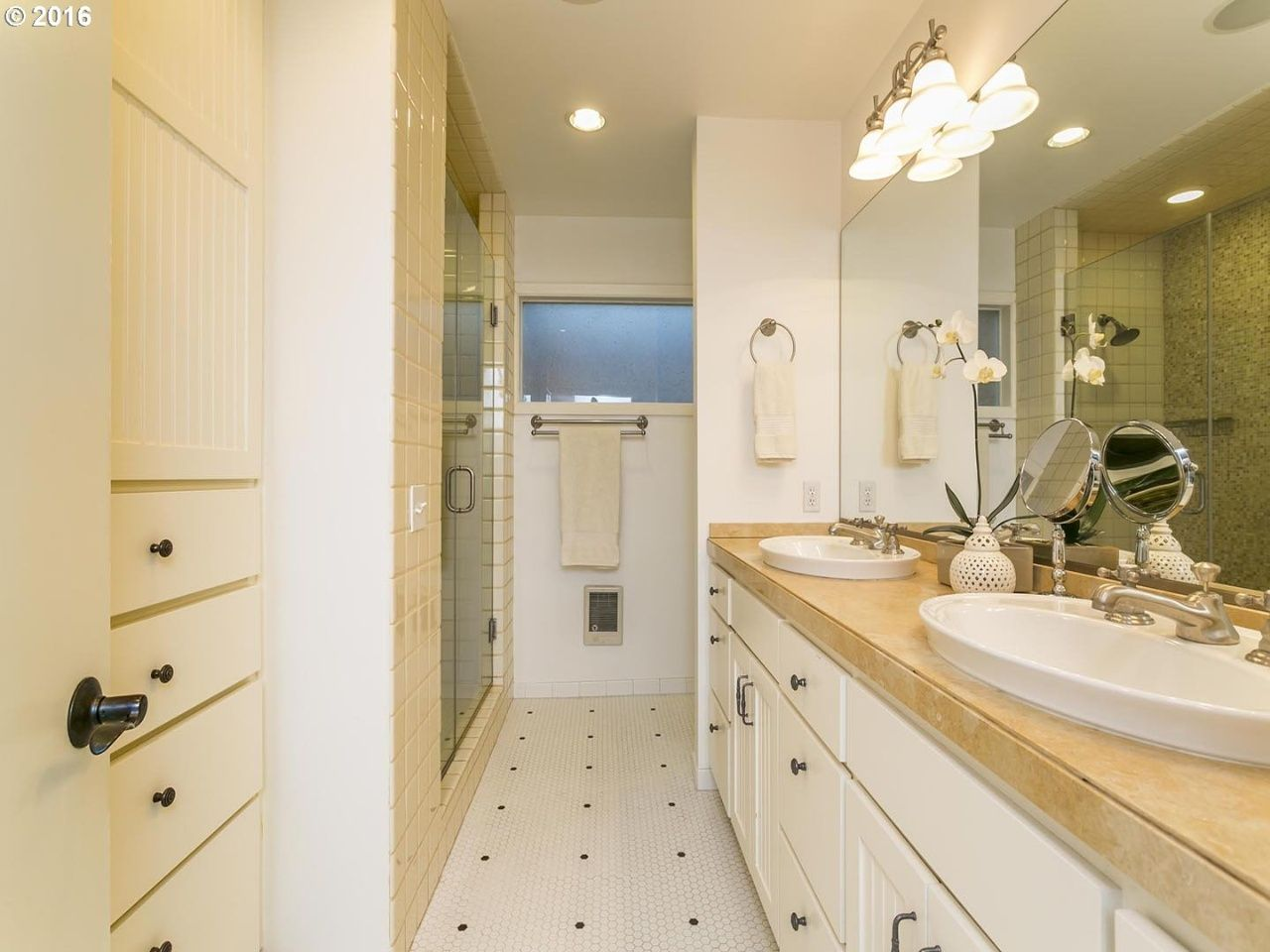 Our Signature Orchids In This Creamy Dreamy Master Bathroom Home
