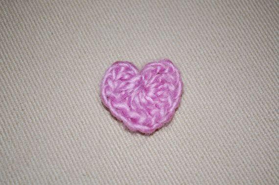 Charity Crochet Heart Pin by CheekyGarden on Etsy, $5.00
