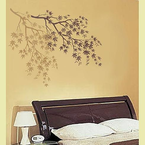 Wall stencil....or hand paint it :) | Home Dec | Pinterest | Wall ...