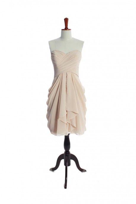 $94 weddingdressbee .net  /amazing-a-line-empire-waist-chiffon-dress-for-bridesmaid-11.html