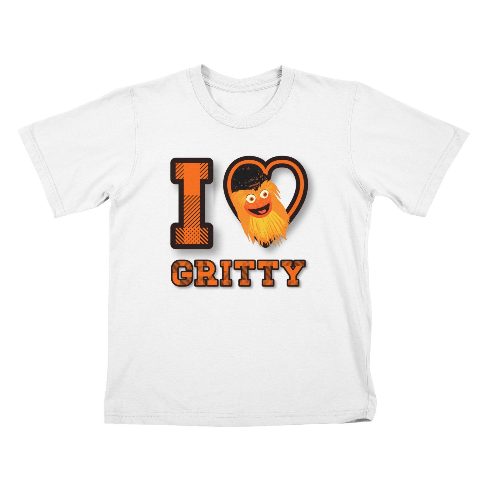 I love Gritty mascot hockey Philadelphia Kids T-Shirt by Mimie s Artist  Shop  Gritty  Philadelphia  flyers  tshirt ef8493840