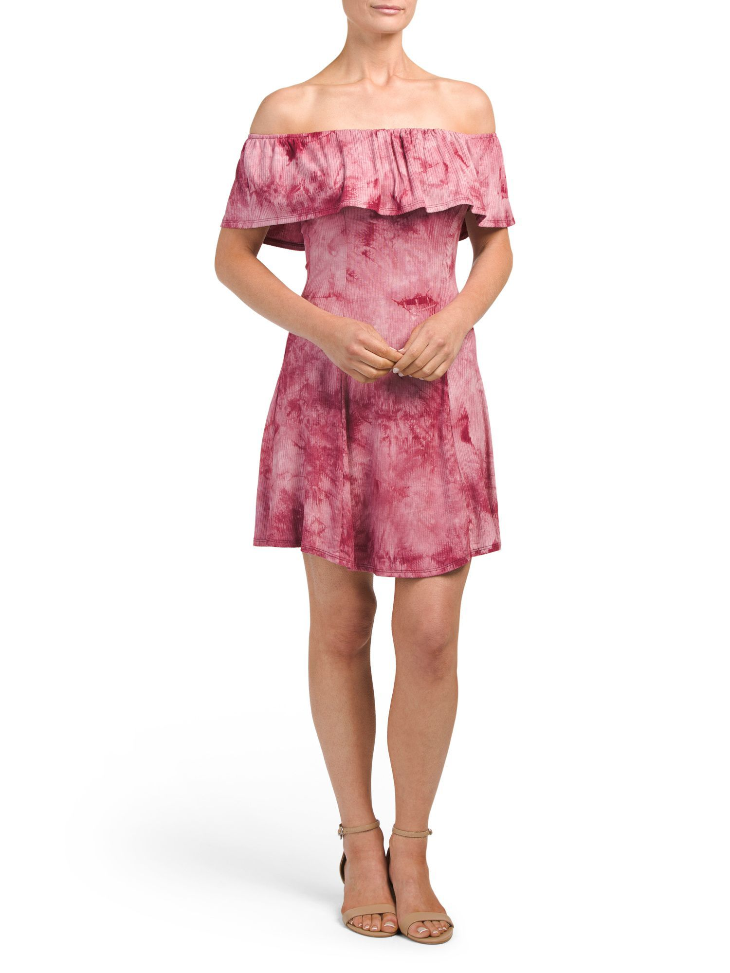 Juniors off the shoulder tie dye dress products pinterest products