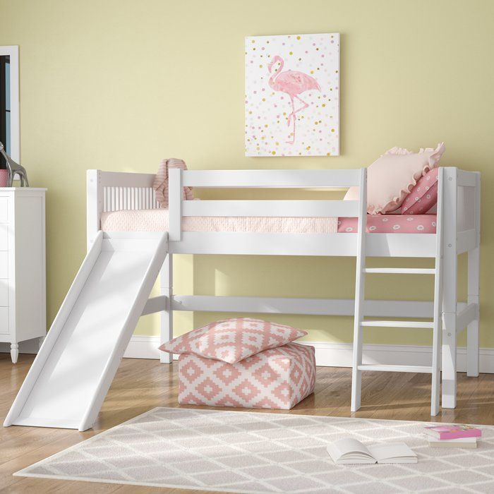 Best Isabelle Low Loft Bed With Slide In 2020 Bed With Slide 640 x 480