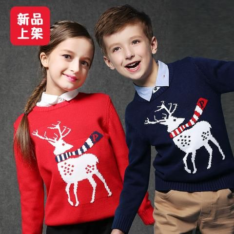 b458d7ae01a9 Winter Girls Boys Sweater Children s Clothing Knitting Christmas ...