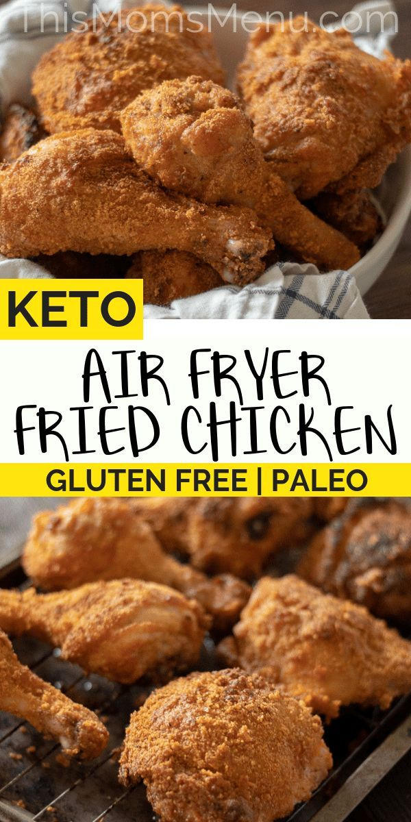 Air Fryer Keto Fried Chicken Paleo, Gluten Free Recipe