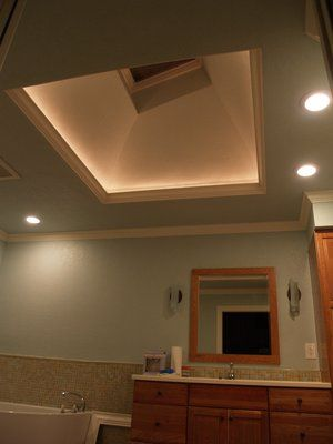 lighting coffer with downlight - Google Search & lighting coffer with downlight - Google Search | Bathroom remodel ...