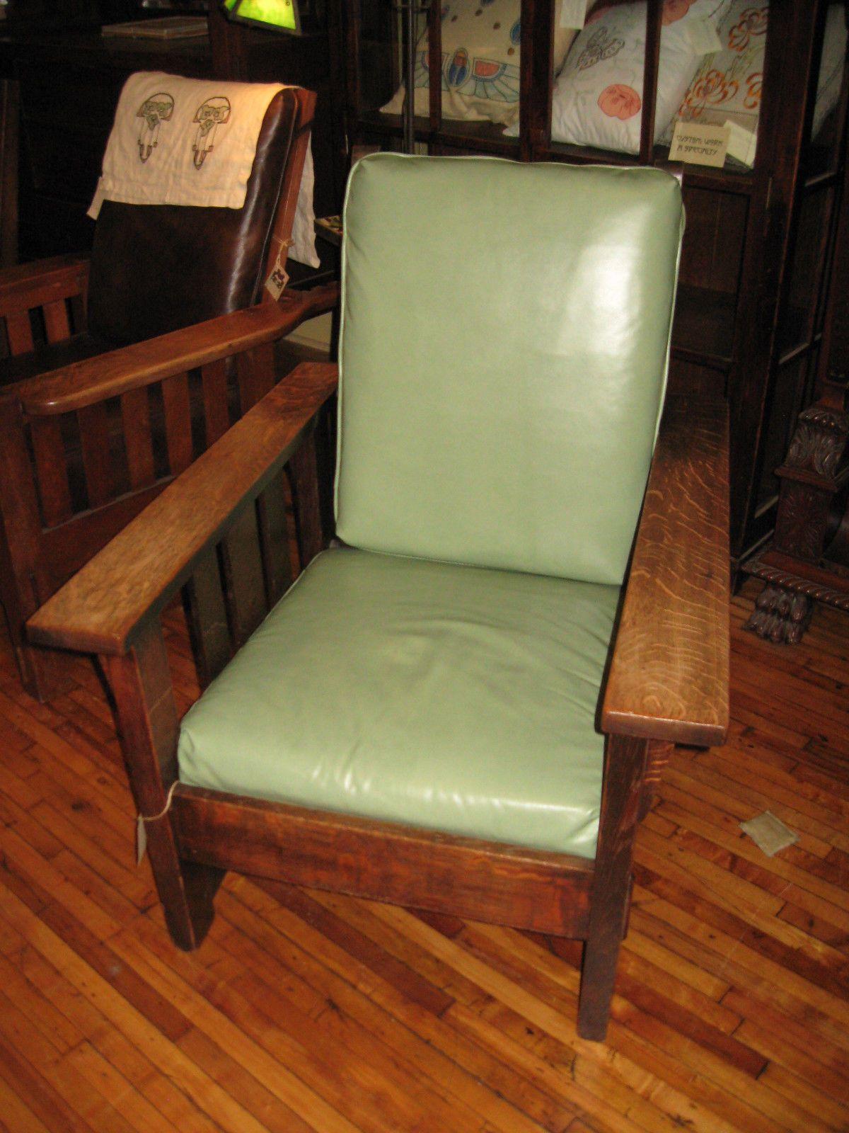 Antique stickley morris chair - Antique Mission Oak Stickley Brothers 631 5 Morris Chair Original Arts Crafts Ebay