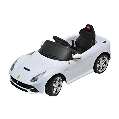 Ferrari F12 Kids 6v Electric Ride On Toy Car W Parent Remote Control White Aosom Http Www Amazon Com Dp B00p2zjnl0 Ref Ride On Toys White Ferrari Ferrari