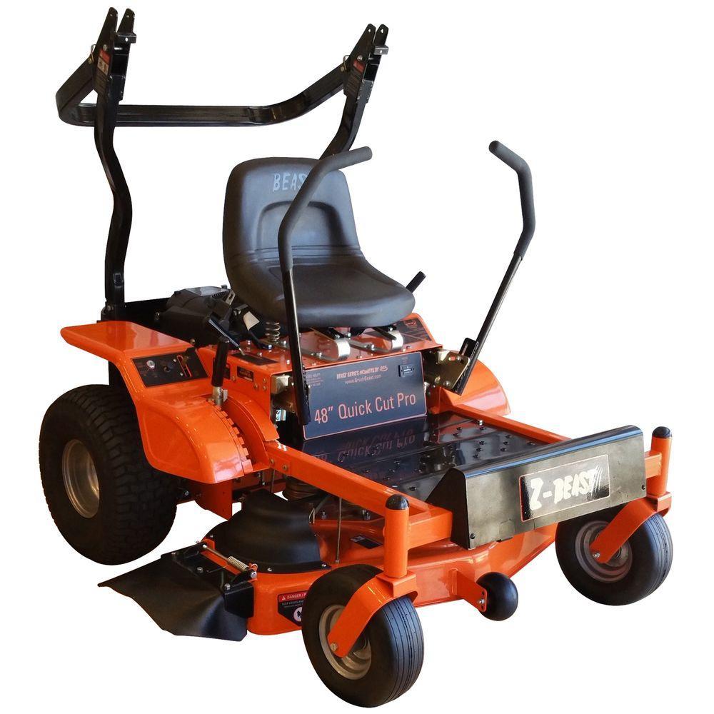 Pro Series 48 In 20 Hp Briggs Stratton Engine Gas Zero Turn Riding Mower With Rollbar Zero Turn Mowers Riding Mower Mower