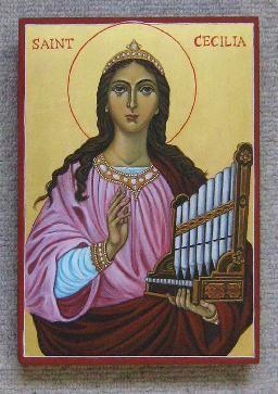 St. Cecilia -  november 22 - by Marchela Dimitrova