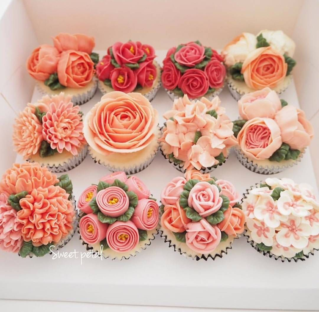 Floral Cupcakes Art Flower Cupcake Cake Pretty Miss
