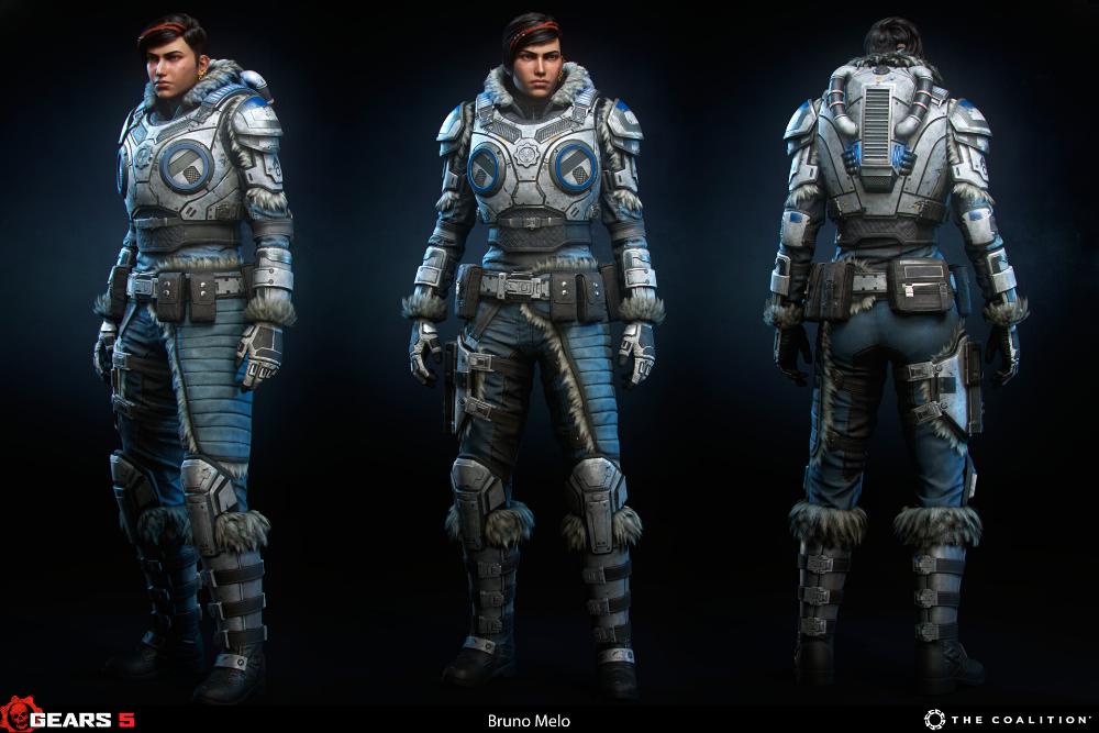 Artstation Gears 5 Kait Diaz Winter Bruno Melo Gears Of War Personajes Heroe