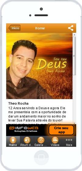 Aplicativo do cantor Theo Rocha http://app.vc/theorocha
