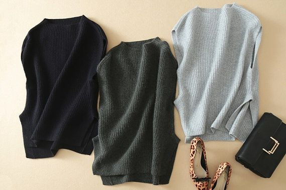Sleeveless pullover sweaters women 100% cashmere knitting fashion warm keeping thick sweater for winter