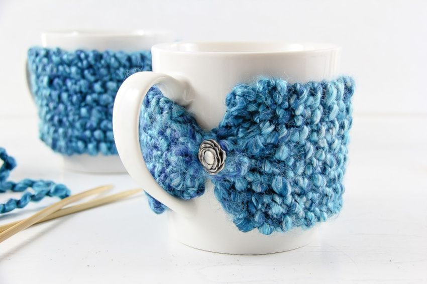 How To Knit a Coffee Mug Cozy | Make and Takes : Make a ...
