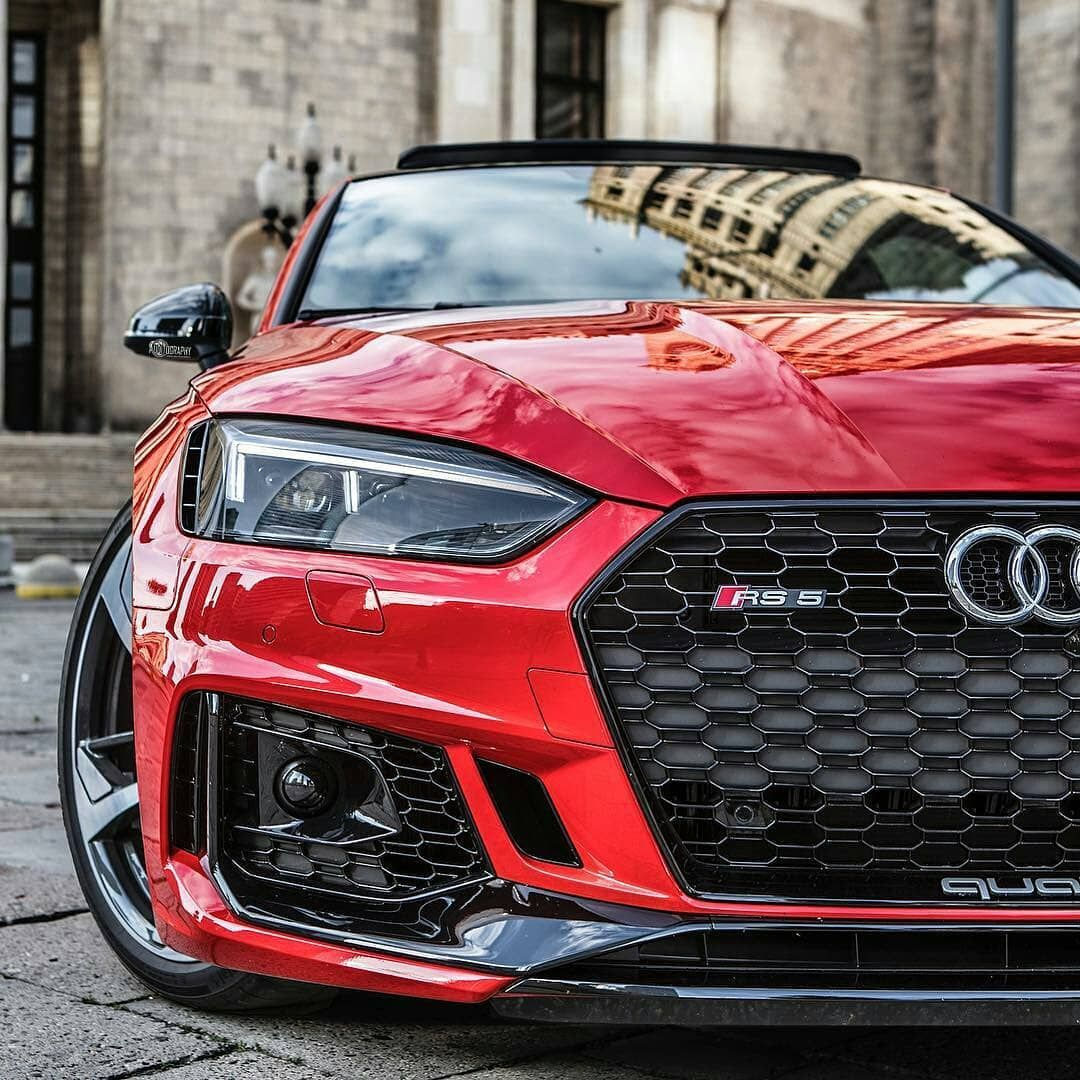 High End Luxury Cars Audi: Red RS5 Quattro. 🐞 Dope Front End Or Not ? 💸 #rs5
