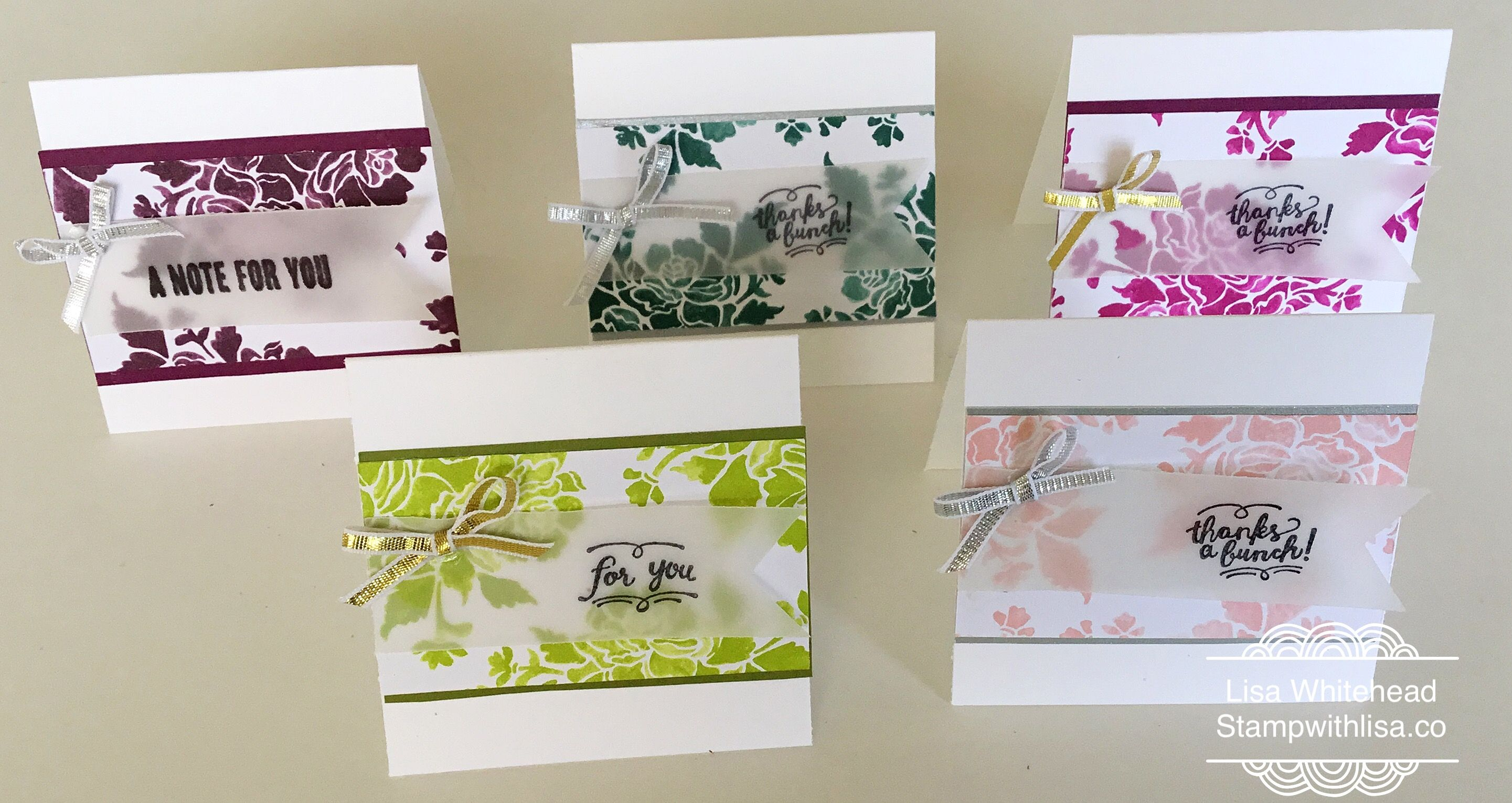 fresh florals mini cards stampwithlisa co cards pinterest