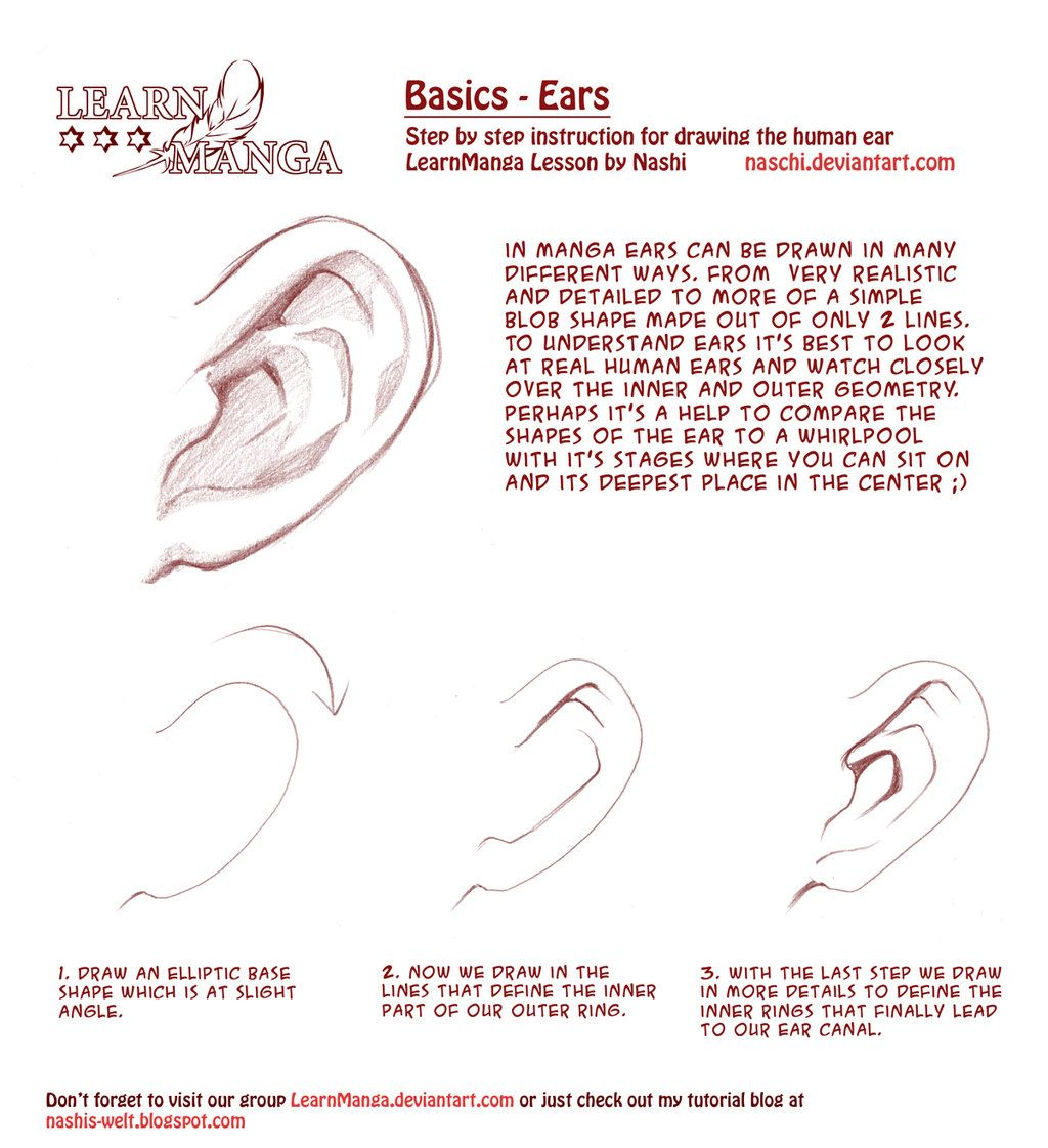 Learn Manga Drawing the Ears by on