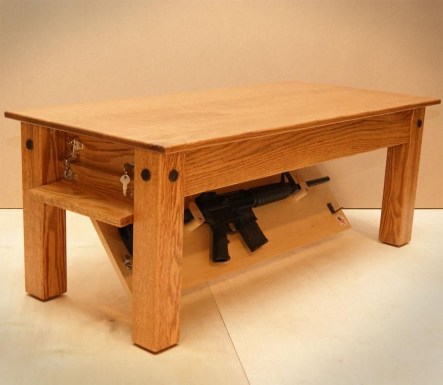 Coffee Table With Gun Drawer Plans: Gun Concealment Furniture, The Head Board Needs To