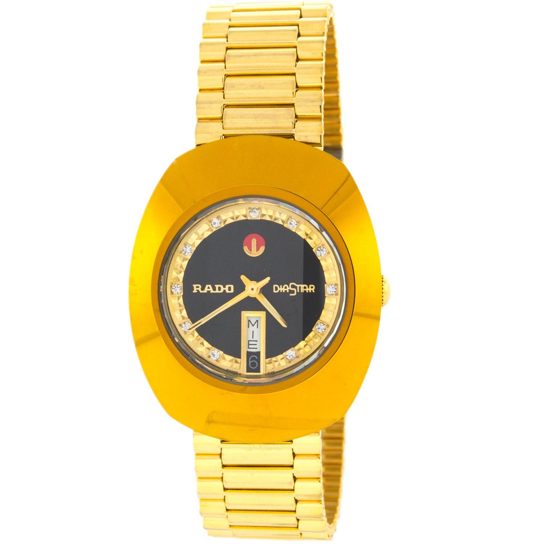 626446b23 Rado Watch (Men's Pre-owned DiaStar Gold Plate Diamond Automatic  Wristwatch, Switzerland)