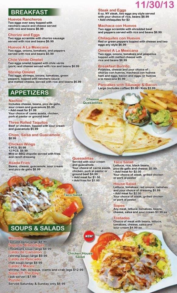 Menu design for Linau0027s Mexican Restaurant Las Vegas Restaurant - how to make a restaurant menu on microsoft word
