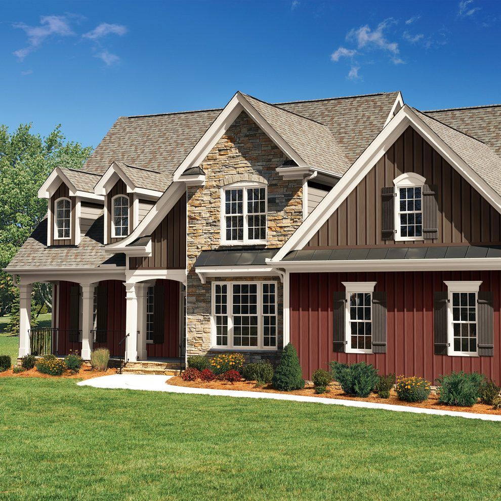 vinyl siding styles exterior craftsman with curb appeal ... on Modern Vinyl Siding Ideas  id=98898