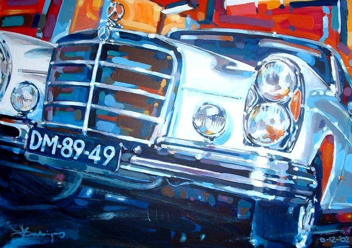 Mandigers Art Studio --- Car Paintings_Mercedes_ 100 x 80 cm. / Acrylics on canvas / Sold