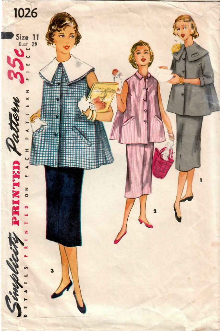 7c925fbc875 Cute maternity style in my  etsy shop  1950s Simplicity 1026 Vintage Sewing  Pattern Junior