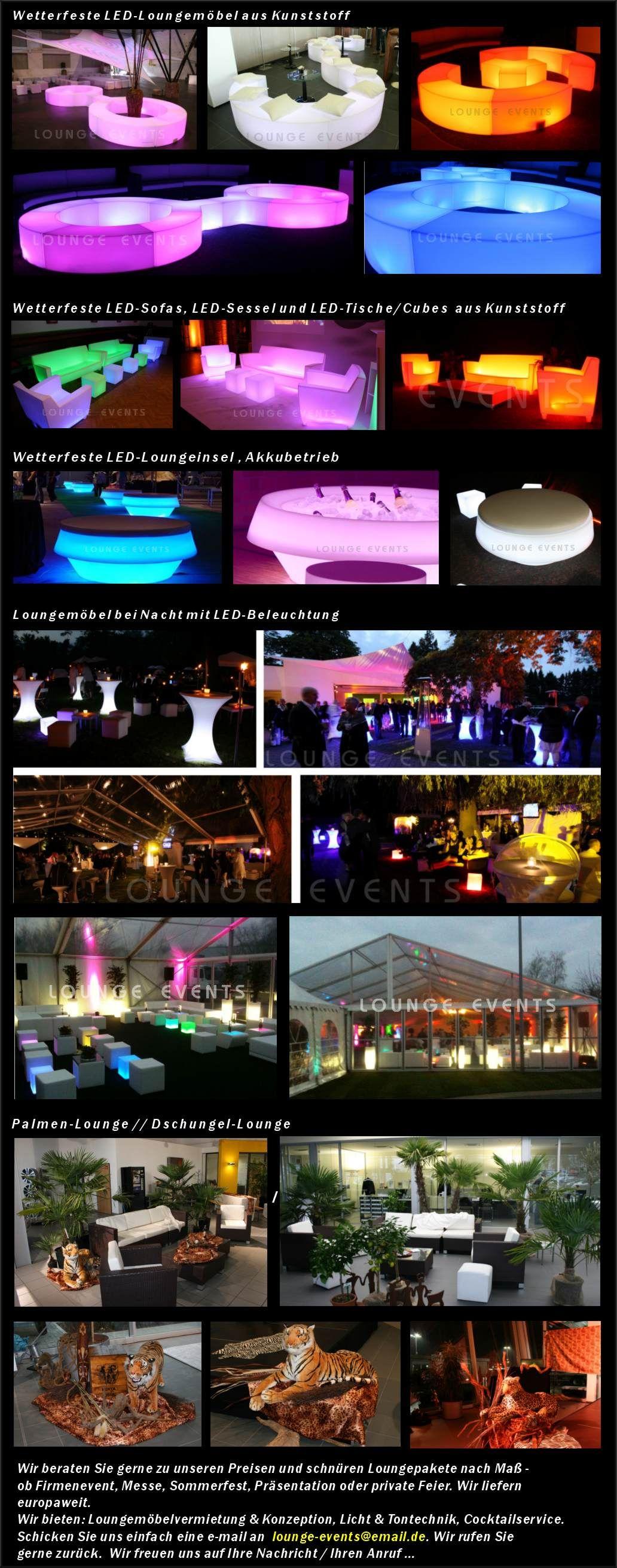 Lounge Events Mietmobel Loungemobel Mieten Led Mobel Verleih Vermietung Decoracao Festa Decoracao Festa
