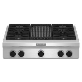 Kitchenaid 4 Burner Gas Cooktop Stainless Steel Common