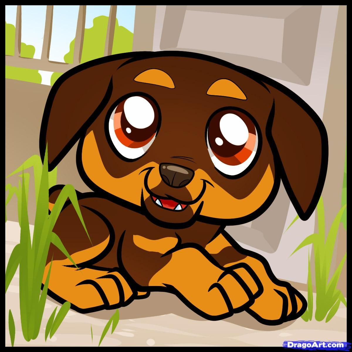 How To Draw A Rottweiler How To Draw Rottweiler Puppy