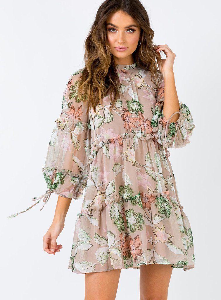 Eden Bloom Mini Dress Blush