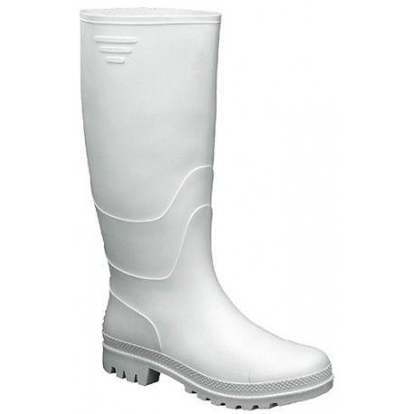 Botas Wellington de seguridad con puntera de acero color blanco